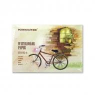Альбом для акварельных карандашей Watercolor Pencil Pad POTENTATE, 230 г/кв.м, 12 л, 15,5x10,5 см