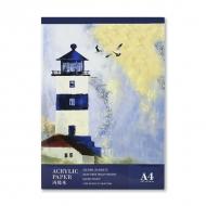 Альбом для акриловой живописи Acrylic Book POTENTATE, 300 г/кв.м, 20 л, формат А4 (21х29,7 см)