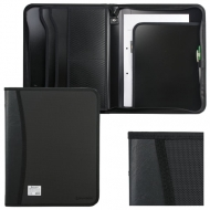 Папка на молнии пластиковая Brauberg, А4, 350х282х33 мм, 2 отделения, 4 кармана, черная