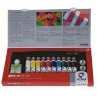 Набор акриловых красок Royal Talens Van Gogh Комбинированный, 10 цветов и аксессуары