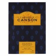 Альбом для акварели Canson Heritage 300г/кв.м (хлопок) 26*36см 12листов Фин склейка по короткой стороне