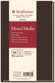Блокнот для зарисовок Strathmore 500 Series Mixed Media 190г/кв.м, 14х21,6см 32л