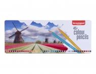 Набор цветных карандашей Bruynzeel 'Holland' 45 цветов в металлической упаковке