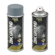 Аэрозольный антикоррозийный цинковый грунт для стали и чугуна «Zink Ground» Inral, 400 мл