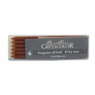 Художественный стержень сангина масляная CRETACOLOR для графических работ, 6 шт.