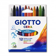 Восковые карандаши GIOTTO Cera FILA для детского творчества и рисования, 12 цветов