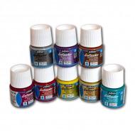 Краска для росписи темных и светлых тканей мерцающая PEBEO, 45 мл