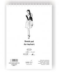 Скетчбук для маркеров SM-LT Art Authentic for Markers 100г/м2 A3 50 листов в папке склейка по длинной стороне
