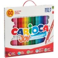 """Фломастеры Carioca """"Joy"""", 60 цветов, смываемые, картон, пластиковая ручка"""