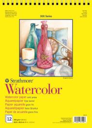 Альбом для акварели Strathmore 300 Series Watercolor 300г/кв.м, 22,9х30,5см, 12л
