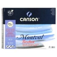 Альбом для акварели Canson Montval 270г/кв.м (целлюлоза) 32*41см 12листов спираль по короткой стороне
