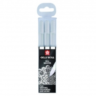 Набор гелевых ручек Sakura Gelly Roll 3 белые ручки, блистер