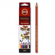 """Акварельные цветные карандаши Koh-I-Noor Mondeluz """"Натюрморт"""", 6 цветов"""