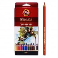 """Акварельные цветные карандаши Koh-I-Noor Mondeluz """"Натюрморт"""", 24 цвета"""