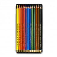 Художественные цветные карандаши Koh-I-Noor POLYCOLOR, набор 12 цветов
