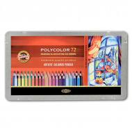 Художественные цветные карандаши Koh-I-Noor POLYCOLOR, 72 цвета, мет. пенал