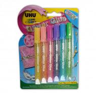 Искрящиеся клеящие блестки для декора любых поверхностей UHU Creativ' Glitter Glue Shiny