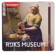 Набор цветных карандашей  Bruynzeel Rijksmuseum 'Молочница' Вермеер 24 цвета в металлической упаковке