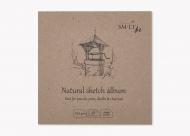 Альбом SM-LT Art Layflat Natural 100г/м2 14х14см 48 л серая бумага сшитый