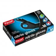 """Перчатки нитриловые Paclan """"Practi"""", черные, 50шт., картон. коробка"""
