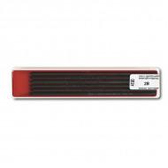 Набор чернографитных грифелей KOH-I-NOOR для цанговых карандашей, диам. 2 мм, тв. 2В, 12 шт.