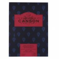 Альбом для акварели Canson Heritage 300г/кв.м (хлопок) 26*36см 12листов Сатин склейка по короткой стороне