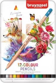 Набор цветных карандашей Bruynzeel Expression Colour 12цв в металл. кор.
