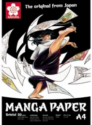 Блокнот для рисования Sakura Manga 250 г/кв.м 21x29,7 см, гладкая бумага, 20 листов