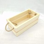 Заготовка Timberlicious  деревянная для декорирования ящик реечный с веревочными ручками 24х12х9см