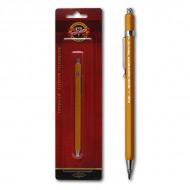 Цанговый механический карандаш KOH-I-NOOR под диаметр грифеля 2мм, цвет корпуса желтый, блистер