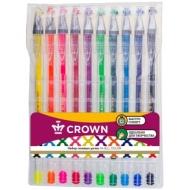 """Набор гелевых ручек Crown """"Hi-Jell Color"""" 10шт., 10 цветов, 0,5мм"""