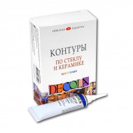 Набор цветных акриловых контуров по стеклу и керамике Decola НЕВСКАЯ ПАЛИТРА, 4 цвета по 18 мл