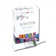 Набор цветных акриловых контуров для росписи по ткани Decola НЕВСКАЯ ПАЛИТРА, 4 цвета по 18 мл