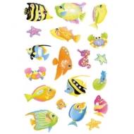 """Наклейки объемные Herma """"Magic. Южные рыбки со стразами"""", 16*9см"""