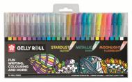 Набор гелевых ручек Sakura Gelly Roll 24 штуки Микс: металлик, флуоресцентные, с блестками, белая