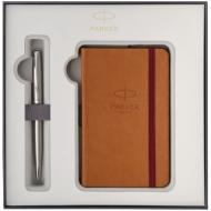 "Набор Parker: ручка шариковая ""Sonnet Stainless Steel CT"", 1,0мм и записная книжка, подар. уп."