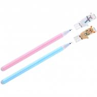 """Ручка гелевая стираемая MESHU """"Lama"""" синяя, пишущий узел 0,5мм, толщина лини 0,3мм, корпус ассорти"""