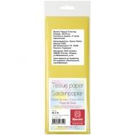 Бумага тишью Werola, 50*75см, 5 листов, 17г/м2, желтая, однотонная, пакет, европодвес