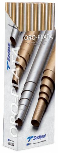 Бумага Крафт Sadipal ORO-PLATA 60г/кв.м, рулон 1x3м, серебро