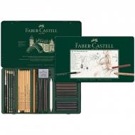 """Художественный набор для графики Faber-Castell """"Pitt Monochrome"""", 33 предмета, метал. кор."""