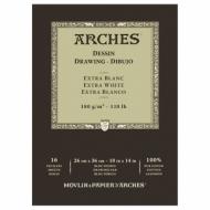 Блок для графики Arches Extra Blanс 180г/кв.м 26*36см 16л Мелкое зерно, склейка