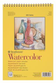 Альбом для акварели Strathmore 300 Series Watercolor 300г/кв.м, 17,8х25,4см, 12л
