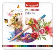 Набор цветных карандашей Bruynzeel Expression Colour 24 цвета в металлической упаковке