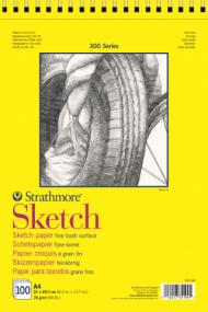 Альбом для зарисовок Strathmore 300 Series Sketch 74г/кв.м, 21х29,7см, 100л