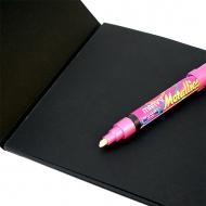 Альбом-склейка для эскизов POTENTATE Black Pad Book, 32 черных листа формата А4, 150 г/кв.м