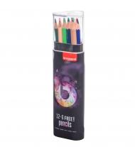 Набор цветных карандашей Bruynzeel Teen Light 18 цветов в пластиковом пенале-тубусе