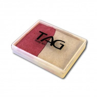 Профессиональный гипоаллергенный аквагрим TAG 2 в 1, перламутровый бело-розовый, 50г
