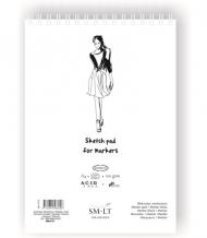 Скетчбук для маркеров SM-LT Art Authentic for Markers 100г/м2 A4 50 листов в папке склейка по длинной стороне
