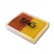 Профессиональный гипоаллергенный аквагрим TAG 2 в 1, перламутровый желто-оранжевый, 50 гр