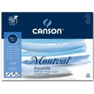 Альбом для акварели Canson Montval 300г/кв.м 24*32см 12листов Фин склейка склейка по короткой стороне